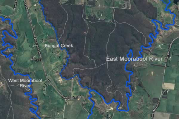 East Moorabool Map